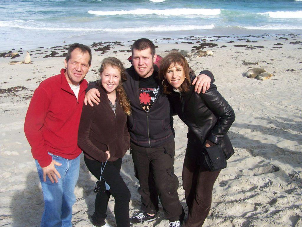 Zoe Loren and family